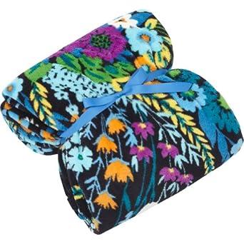 Vera Bradley Throw Blanket Midnight Blues Amazon Co Uk