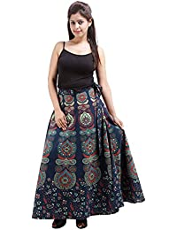 Jaipur Skirt Women's Cotton Wrap Skirt - B01F5OJSNK