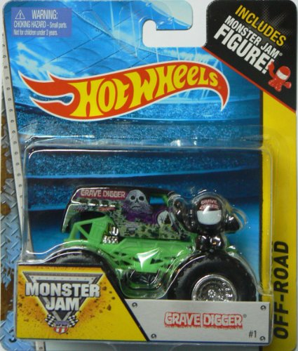 Hot Wheels Monster Jam #1 Off-Road Grave Digger Includes Monster Jam Figure