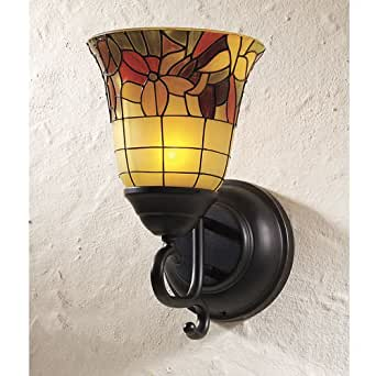 Wall Sconces Stained Glass : Stained Glass Flameless Candle Wall Sconce - - Amazon.com