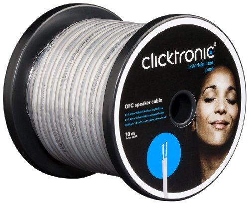 Clicktronic Casual Cavo OFC per Altoparlanti, 10 m, Blu