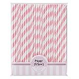 Talking Tables Pink-n-Mix Papier Trinkhalme, 30Stück
