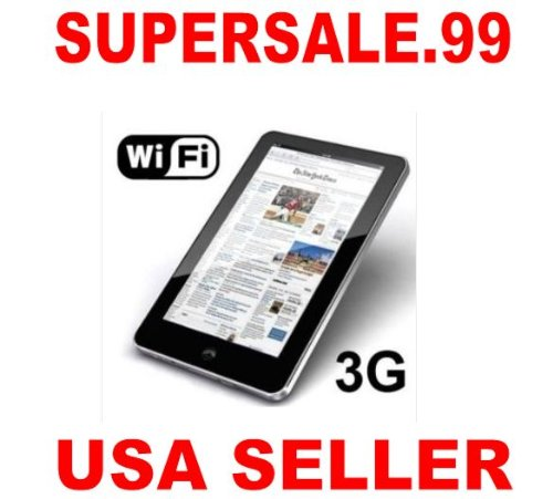 Best New 7 inch android 2.2 VIA8650 epad tablet pc 3.0MP Camera, SUPPORTS EXTERNAL3G MODEM+WIFI+RJ45+Two Point Touch Screen+Flash 10.1 with PRIORITY SHIPPING FROM SUPERSALE.99 USA SELLER