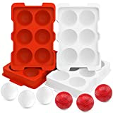 19th Hole Golf Ball Ice Ball Maker Molds ~ Makes 12 Ice Balls ~ Each Ice Ball Dimpled & Sized Like Golf Balls ~ Great Funny Golf Gifts