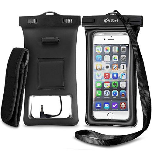 3iART Custodia impermeabile Borsa con esterno auricolare / Accessory Jack - Custodia Galleggianti - impermeabile del bracciale Perfetto per Vela / Kayak / Rafting / Nuoto - Sacchetto impermeabile / impermeabile Vita Pouch Bag / a secco per Apple iPhone 6S , 6 , 6 Plus , 5S , 5C , 5 ; Galaxy S6 , S4 , S3 ; HTC One X , Galaxy Nota 3 , nota 2 ; LG G2 - Protegge il vostro telefono cellulare o lettore MP3 da acqua , sabbia, polvere e sporcizia - IPX8 certificato a 100 Feet