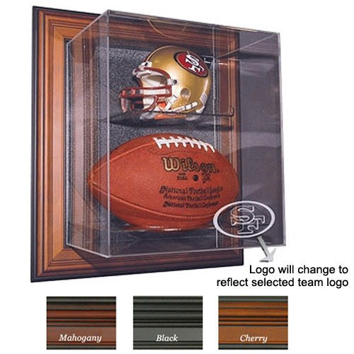 "USA Wholesaler - CAS-BAL-NFL-109-104-CU-EL - Baltimore Ravens NFL Case-Up"" Mini Helmet & Football Display Case "" at Amazon.com"