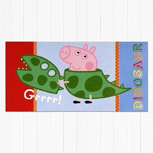 Peppa-Pig-Serviette-Bain-100-Coton-George-Dinosaure-Grrrrrrrrrrrr-Imprim