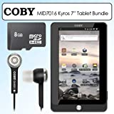 Coby MID7016 7 Inch Kyros 4G Android Touchscreen Internet Tablet Bundle