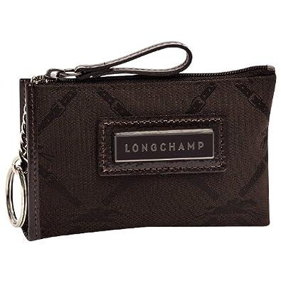 Longchamp LM Canvas Zip Coin Purse Moka