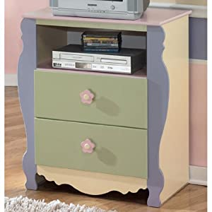 Childrens Multicolored Media Chest Kids TV Stand