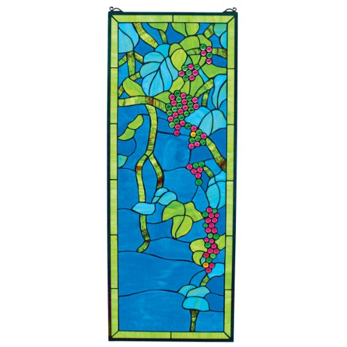 Design Toscano TF9560 Vinyard Grapevine View Stained Glass Window