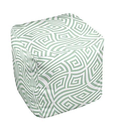 E By Design Fg-N9-Margarita_Green-13 Geometric Pouf