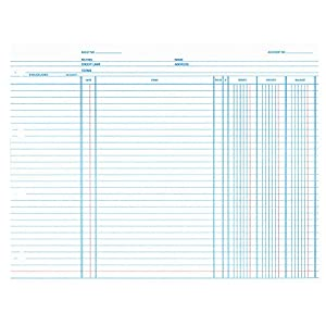 Wilson Jones Balance Ledger Paper, 24 lb, 9.25 x 11.875 Inches, White, 100 per Pack (WN2DA)