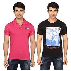 Strak Cotton Men's Casual T-Shirt (STR2036_XL)