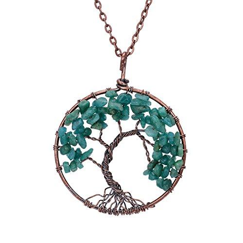 Sedmart Tree of life pendant Amethyst Rose Crystal ... - photo #28