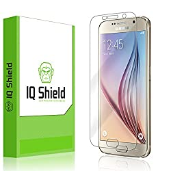 IQ Shield LiQuidSkin - Samsung Galaxy S6 Screen Protector with Lifetime Replacement Warranty - High Definition (HD) Ultra Clear Smart Film - Premium Protective Screen Guard - Extremely Smooth / Self-Healing / Bubble-Free Shie