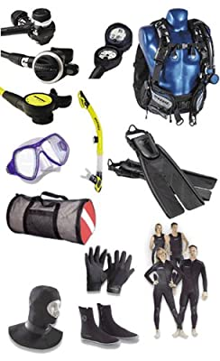 Oceanic Women's Warm Water Dive Package With Wetsuit, Bag + provided by Oceanic