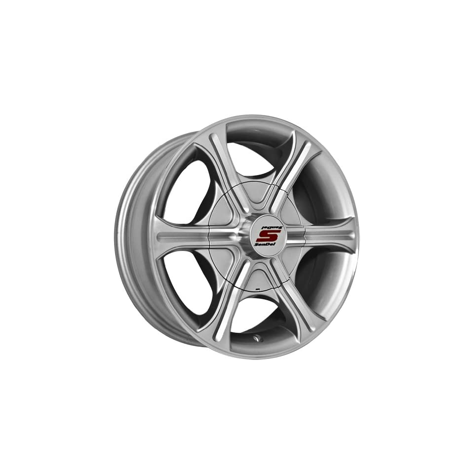 15x6 Sendel T05 Trailer Silver Wheel Rim 6x139.7 6x5.5 0mm Offset 107.95mm Hub Bore Automotive