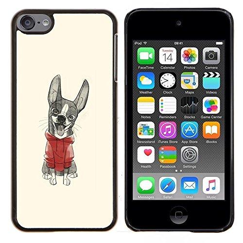 # Duro Custodia protettiva Caso Cassa PC Coprire Hard Protective Case forApple iPod Touch 6 6th Touch6 # cucciolo carino disegno maglione abbozzo cute puppy sweater sketch drawing# Gift Phone Case Housing #