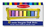 Melissa & Doug 10 Jumbo Triangular Chalk Sticks