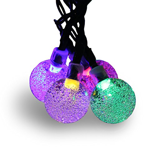 Amaz-Play Outdoor Solar String Lights - Decorative Globe Led Lighting for Christmas Tree, Party, Patio, Garden, Home - 20ft 30 LED Color Colored (Single Color Led Christmas Lights compare prices)
