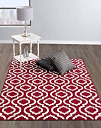 Diagona Designs Contemporary Moroccan Trellis Design 5 by 7 Area Rug, 63\