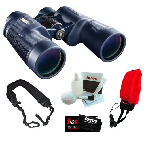 Bushnell 157050 H2O 7X 50Mm Waterproof Binocular + Floating Foam Strap + Wide Strap + 5-Piece Cleaning And Care Kit + Micro Fiber Cleaning Cloth