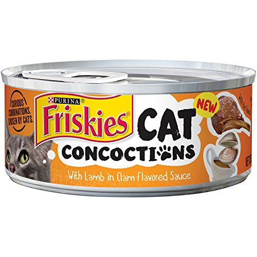 Friskies Cat Concoctions With Lamb In Clam Flavored Sauce