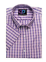 Formals by Koolpals-Cotton Blend CHECKS RED WHITE AND BLUE Shirt