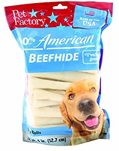 Pet Factory USA 5-Inch Chip Rawhide Rolls for Dogs, 22-Count - Pack of 2