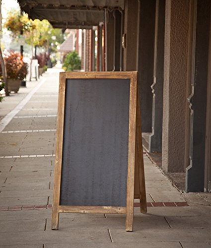 Vintage Jumbo Heavy Weight Free Standing Wood Frame Two-Sided Chalkboard - 4-ft Tall 0