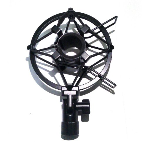 Koolertron Black Universal 25Mm Microphone Shock Mount For 23Mm-27Mm Diameter Condenser Mic