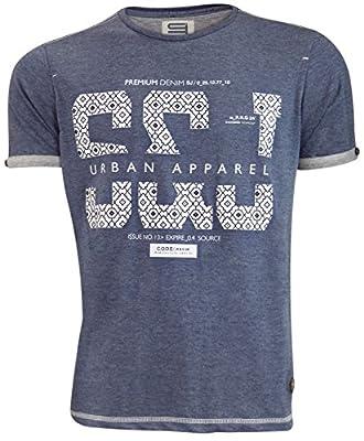 Mens neue Smith & Jones Designer ausgelöst gedruckten Crew Neck T-Shirt, Top, bedruckt