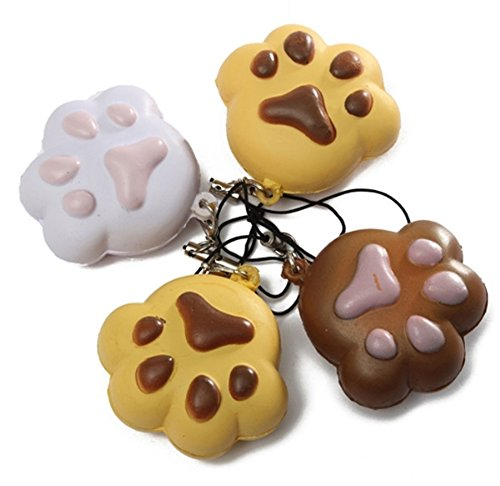 Best Promotion Kawaii Claw Puppy Dog for Cat Footprint Squishy Bread Keychain Bag Phone Charm Strap