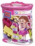 Mega Bloks Building Block Bag (Pink, 24 Pieces)