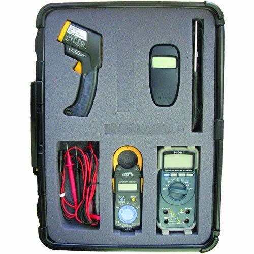 Hioki Hvac Pro Professional Test Kit With Anemometer, Infrared Thermometer, Digital Multimeter, Clampmeter