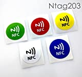 #1: NFC House Ntag203 NFC Tag Sticker printed 30 mm Round (Set of 5)