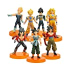 7Pieces/SET Dragon Ball Z DBZ 5 Songukou Gogeta Gotenks Goku Kakarotto Kuririn Action Figure toy