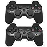 Findway Wireless Bluetooth Controllers for PlayStation 3 PS3 Double Shock Black