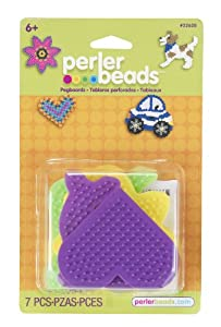 Perler Beads Small Fun Shaped Pegboards - 7 Count