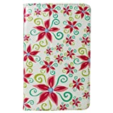 CaseGuru HP Slate Star Lily Flower floral Printed Pattern Premium Luxury Multi Angle Function Standby Slim Case Cover
