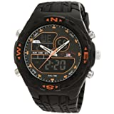 U.S. Polo Assn. Men's US9059 Analog-Digital Black Dial Black Rubber Strap Watch