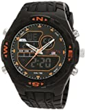 U.S. Polo Assn. Sport Mens US9059 Analog-Digital Black Dial Black Rubber Strap Watch