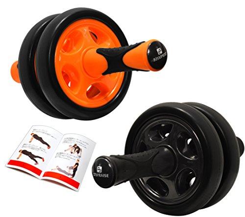 DB Praise 腹筋ローラー Ab Wheel 4色 健康フィットネス用品 効果的なスポーツトレーニング(グレー、ピンク、ブラック、オレンジ )(Pink)