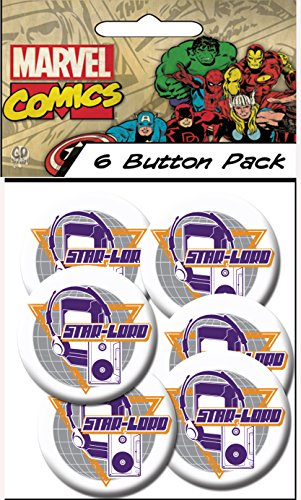 "C&D Visionary Guardians of The Galaxy Star Lord 1.25"" Button (6-Piece)"