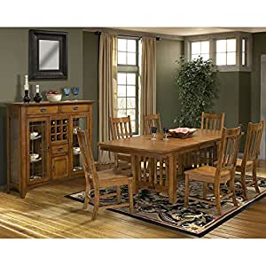 Mission Leopold Trestle Dining Room Set Table Chair Sets