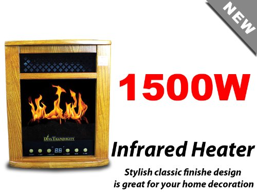 New 2-in-1 LCD Electric Fireplace Portable Quartz Infrared Space Heater 1500W photo B00HGJLRGE.jpg