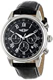 I By Invicta Mens 90242-001 Chronograph Black Dial Black Leather Watch