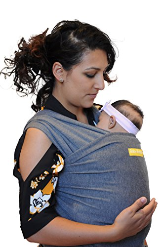 Baby Booboo Panno Fascia Wrap - Imbracatura Porta Bebè Baby Sling Wrap - Morbida Fascia per Trasporto Neonato Soft Baby Carrier - Favoloso Regalo Nascita Bebè (Grigio Antracite)