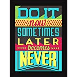 Best Motivational Inspirational Success Attitude Quotes On Life - Do It Now - Fatmug FRAMED Poster For Home Walls...